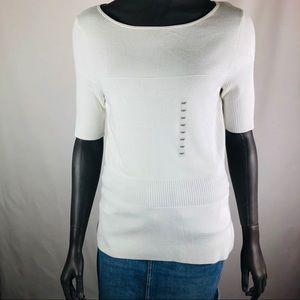 Ann Taylor petite lightweight sweater short sleeve